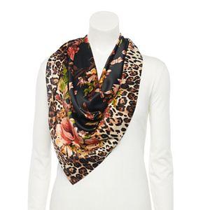 Women's Apt. 9® Leopard & Floral Print Square Scarf