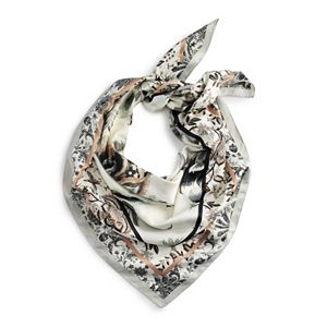 Women's Apt. 9® White Floral Square Scarf