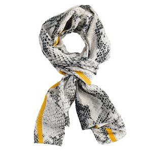 Women's Apt. 9® Snake Print Oblong Scarf with Color Pop