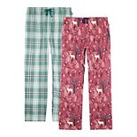 Plus Size Eddie Bauer 2-pk. Flannel Pajama Pants Set