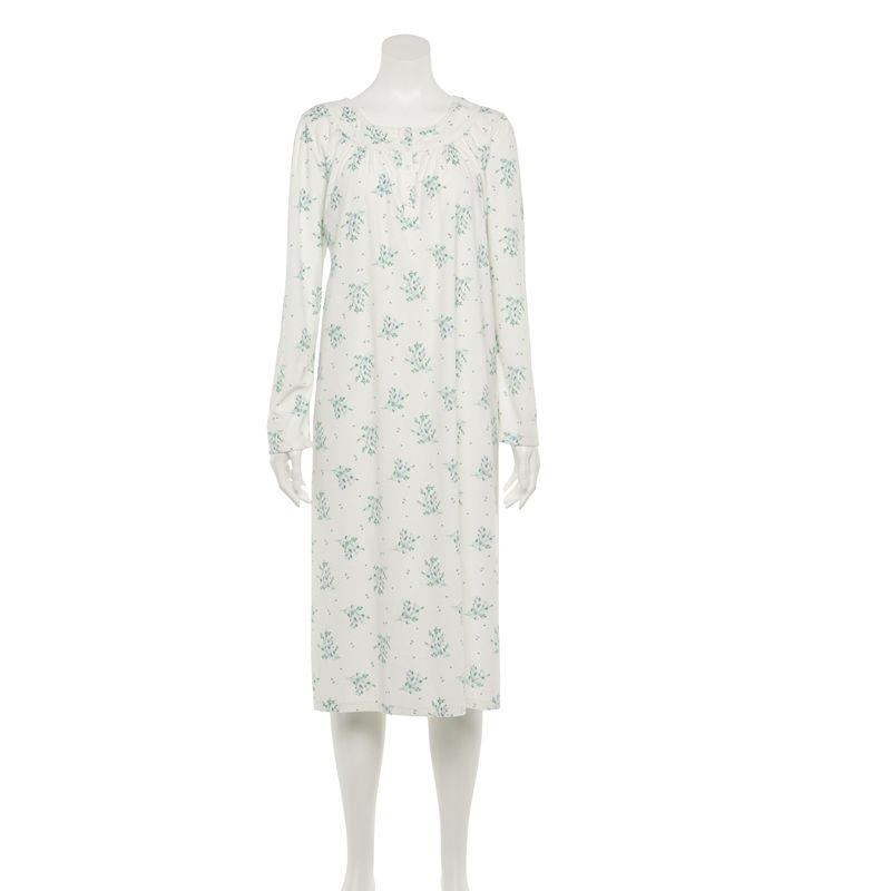Petite Croft & Barrow Long Nightgown, Women's, Size: Small Petite, Drk Purple