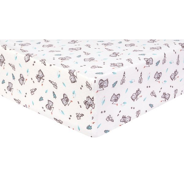 Trend Lab Gone Fishing Deluxe Flannel Fitted Crib Sheet