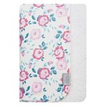Trend Lab Emma Floral Flannel & Faux Shearling Baby Blanket