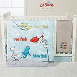 Trend Lab Dr. Seuss One Fish Two Fish 4 Piece Crib Bedding Set
