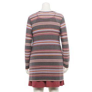Juniors' Plus Size WallFlower Swing Dress & Printed Baja Cardigan Set