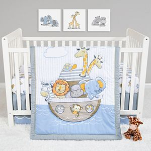 Sammy & Lou Noah's Ark 4 Piece Crib Bedding Set