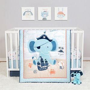 Sammy & Lou Ahoy Archie 4 Piece Crib Bedding Set