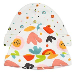 Baby Girl Mac & Moon 2-pack Printed Caps