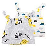 Baby Boy Mac & Moon 2-Pack Wild Animal Knit Caps