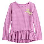 Girls 4-12 Jumping Beans® High-Low Long Sleeve Peplum Tee