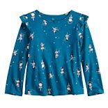 Toddler Girl Jumping Beans® Long-Sleeve Flutter Tee