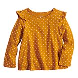 Toddler Girl Jumping Beans® Long-Sleeve Flutter Tee