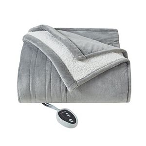 Cuddl Duds Heated Plush to Sherpa Blanket