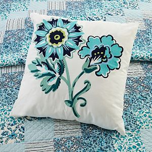 Vera Bradley Cloud Vines Floral Embroidered Throw Pillow