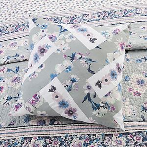 Vera Bradley Park Stripes Piecing Embroidered Throw Pillow