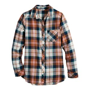 Women's Sonoma Goods For Life® Extra Soft Flannel Essential Shirt