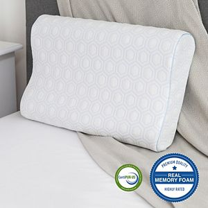 SensorPEDIC Luxury Gel-Infused Memory Foam Contour Bed Pillow
