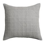 Levtex Home Mills Waffle Taupe Square Throw Pillow