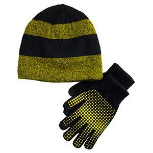 Boys 4-20 Tek Gear Marled Hat & Gloves Set