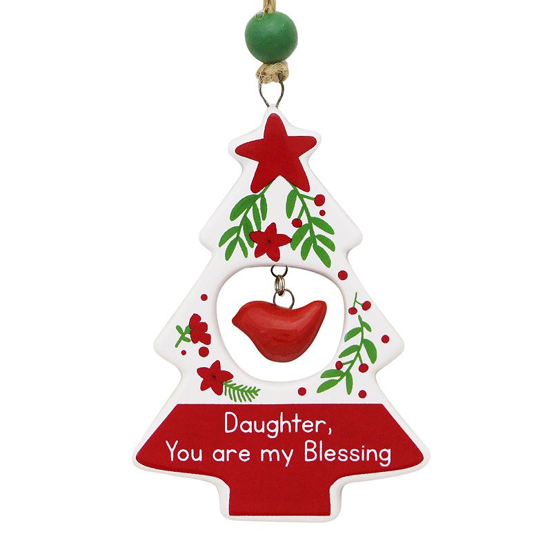 """Daughter, You Are my Blessing"" Sentiment Ornament"