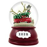 Red Truck Musical Snowglobe Table Decor