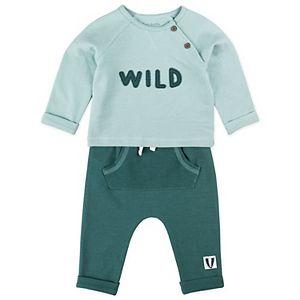 Baby Boy Mac & Moon Badger 2-Piece Long Sleeve Tee & Pants Set