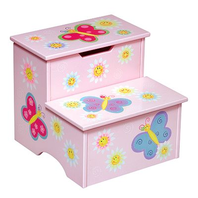 Guidecraft Butterfly Storage Step Stool
