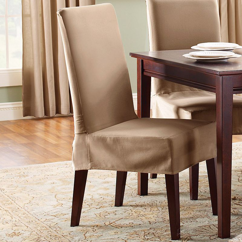 Sure Fit Cotton Duck Full Length Dining Room Chair: Kohls.com Sure Fit Sure Fit Short Dining Chair Slipcover