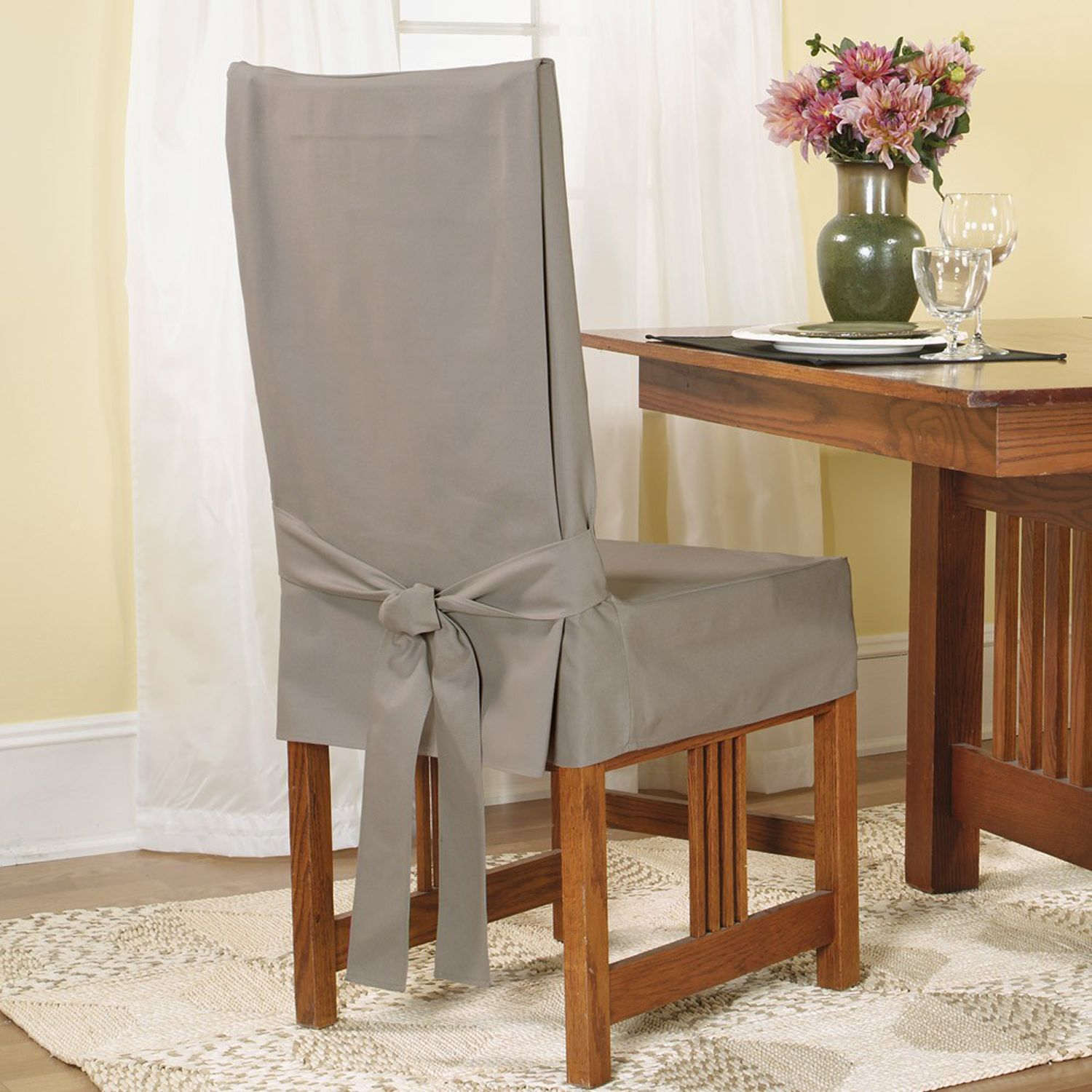 Linen Chair Slipcover Home Design Ideas and