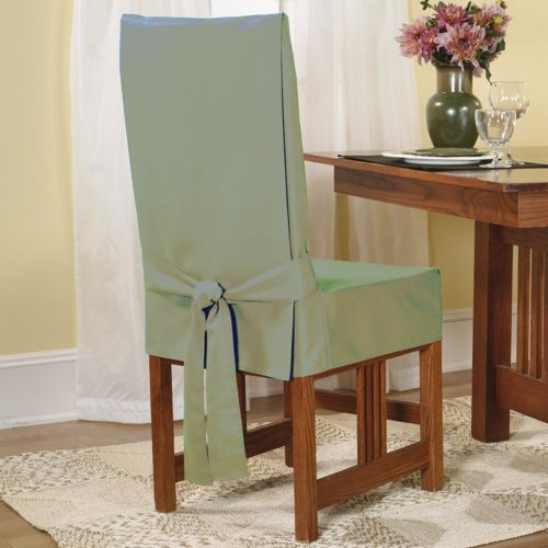 Dining Room Chair Loose Covers sure fit™ short dining chair slipcover