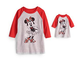 Disney's Minnie Mouse Toddler Girl Plaid Nightgown & Matching Doll Gown by Jammies For Your Families®