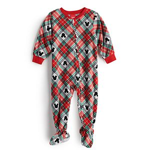 Disney's Mickey Mouse Baby Plaid One-Piece Pajamas by Jammies For Your Families®