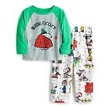 Jammies For Your Families® Toddler Peanuts Snoopy Tree Top & Bottoms Pajama Set