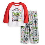 Jammies For Your Families® Toddler Star Wars The Mandalorian & The Child aka Baby Yoda Holiday Pajama Set