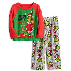Jammies For Your Families® Toddler Dr. Suess' How The Grinch Stole Christmas Grinchmas Top & Bottoms Pajama Set