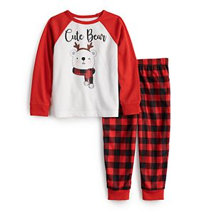 Toddler Girl Jammies For Your Families® Cool Bear Pajama Set by Cuddl Duds