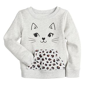Toddler Girl Jumping Beans® Fleece Sweatshirt