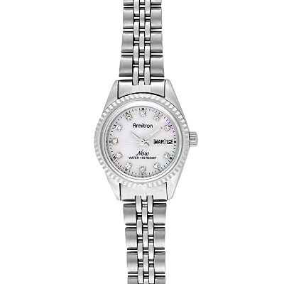 Armitron NOW Silver Tone Crystal Watch - Women