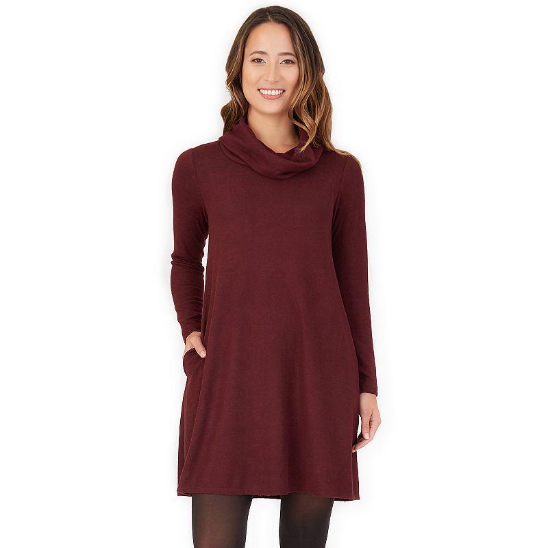 Petite Apt. 9 Cowlneck Swing Sweater Dress, Women's, Size: XXL Petite, Drk Purple