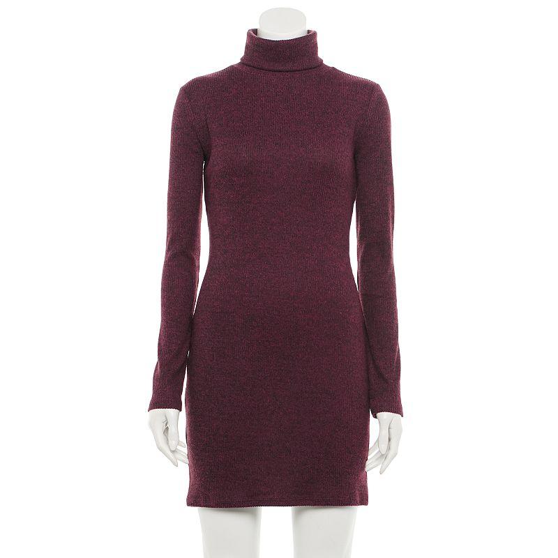 Juniors' SO Cozy Turtleneck Bodycon Dress, Girl's, Size: XXL, Dark Pink