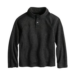 Boys 4-12 Sonoma Goods For Life Quarter-Button Fleece Pullover