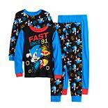 Boys 4-10 Sonic The Hedgehog Faster 4-Piece Pajama Set