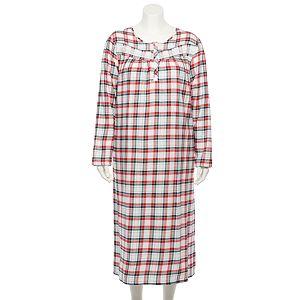 Plus Size Croft & Barrow® Long Flannel Nightgown