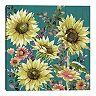Master Piece Fall Sunflowers Teal Light Wall Art