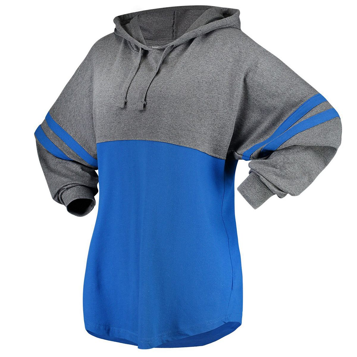 Women's Royal/Charcoal Seton Hall Pirates Pom Pom Jersey Oversized Long Sleeve Hoodie T-Shirt xgRbA