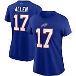Women's Nike Josh Allen Royal Buffalo Bills Team Player Name & Number T-Shirt