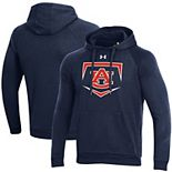 Men's Under Armour Navy Auburn Tigers Baseball Base Logo Pullover Hoodie