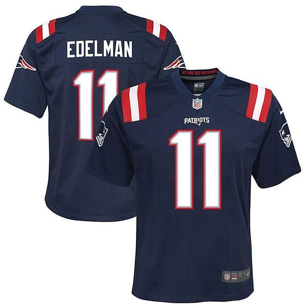 Youth Nike Julian Edelman Navy New England Patriots Game Jersey