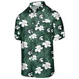 Men's Green Michigan State Spartans Floral Button-Up Shirt