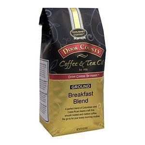 Door County Coffee & Tea Co. Breakfast Blend, Colombia & Costa Rica Specialty Ground Coffee, Medium Roast, 10-oz.